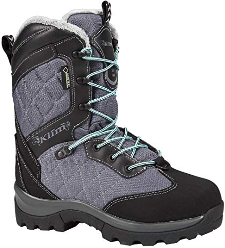 Klim Aurora GTX Women's Snocross Snowmobile Boots Boots - Gray/Black Size 8