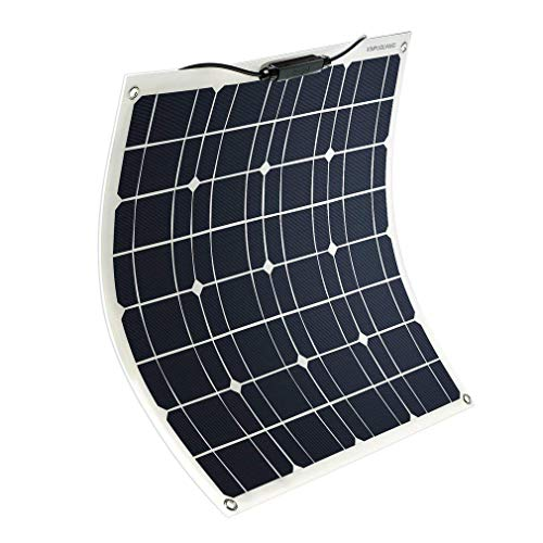 YUANFENGPOWER Solarmodul 12V 50W Solarpanel Monokristallin Solarzelle Photovoltaik Solarladegerät Solaranlage Flexibel für Auto Batterie, Wohnmobil, Camper, Boot, 12V Batterien (50)