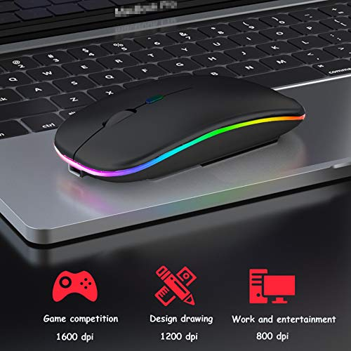 GeekerChip Mouse-2.4G+BT-Charge-LED-BK-CA