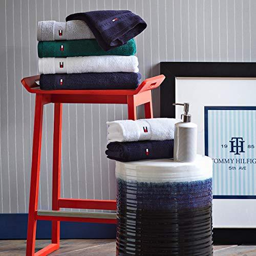 Tommy Hilfiger Handtücher Uni Silver, Badetuch 100x150 cm