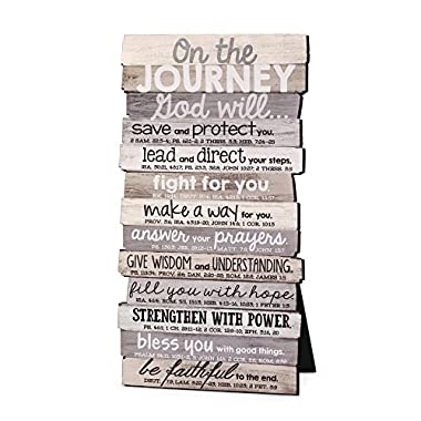 Lighthouse Christian Products Journey 5 x 10 Stacked Wood Desktop/Wall Plaque