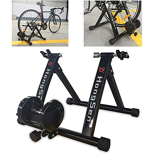 Rulli da Allenamento da Ciclismo Allenatore per Rullo per Bicicletta, Cyclette Bicicletta per Ciclismo Indoor a Casa con Freno Magnetico Trasforma Il Ciclo in Forma Fisica