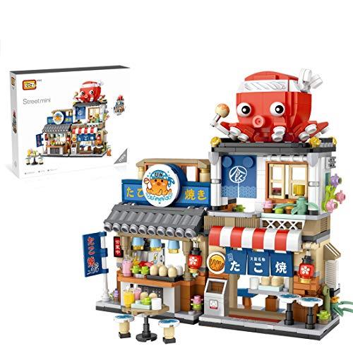 CT-Tribe Bausteine Architektur Modell, Takoyaki-Laden Bausteine Modular Architektur Modell mit 722 Teile, Nicht Kompatibel mit Lego