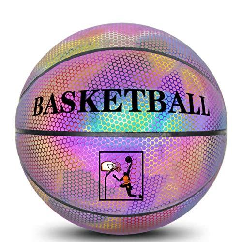 New Picralt HoloHoops Holographic Glowing Reflective Basketball, Outdoor Basketball, Luminous Basket...