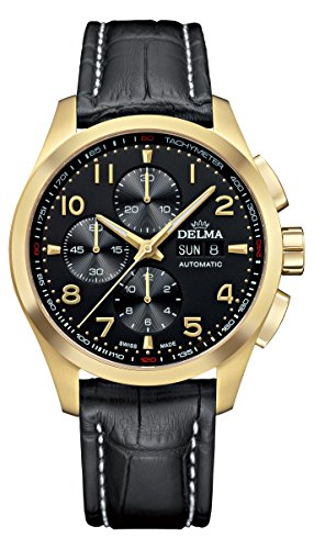 Delma - Chronograph Herrenuhr Automatik Lederarmband 407103