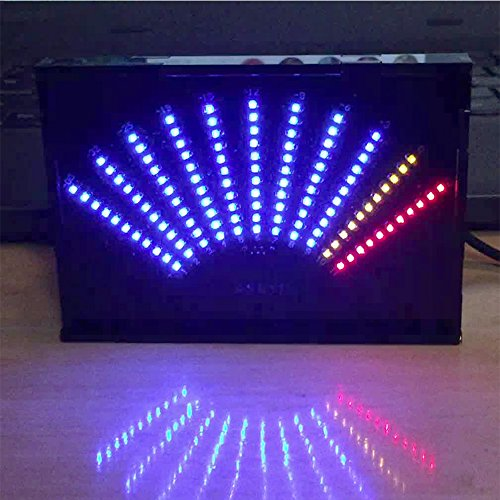 ASK11 Level Indicator LED Music Audio Spectrum Display VU Meter Fan-Shaped Pointer Level Indicating Amplifier with Case (F)