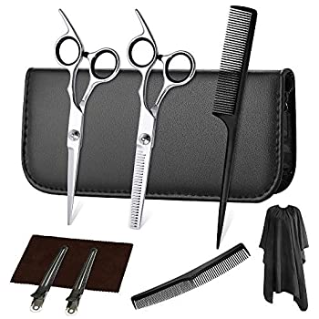 Hair Cutting Scissors Set Professional Hair Cutting Scissors Thinning Shears Hairdressing Scissors Kit,Barber set,Hair Cutting Shears Set  Black