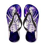 WWZY Flip-Flops For Hombre Mujer Anime Naruto Impreso Uchiha Obito Zapatos De Playa Chanclas Baño Sandalias Piscina Ducha Zapatillas Interior Antideslizante Zapatos De Sauna,Negro,EU 45~46(305)