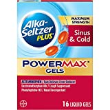Alka-Seltzer Maximum Strength PowerMax Gels with Acetaminophen, Sinus & Cold Medicine for Adults, 16 Count