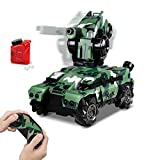 Remote Control Car RC Tank Car Waterproof with 180° Rotating Shooting & 360° Rotating Vehicle, RC Monster Vehicle Truck Crawler,RC Hobby Toys Military Truck Off-Road Sport Cars 4WD 2.4Ghz