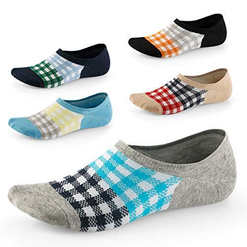 Herren Unsichtbare Socken - Tief geschnitten und rutschfest - Unsichtbar für Halbschuhe Oxfords...