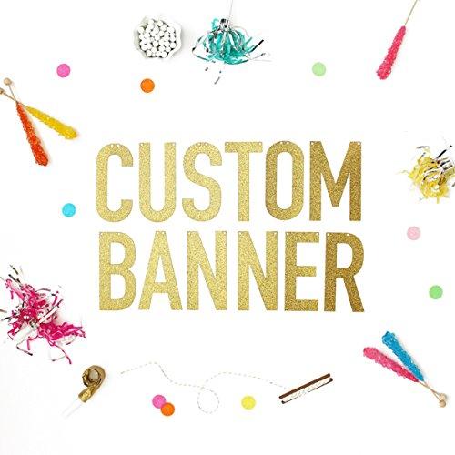 bachelorette engagement banner wedding banner glitter banner custom gold banner 6 inch letter custom banner personalized banner