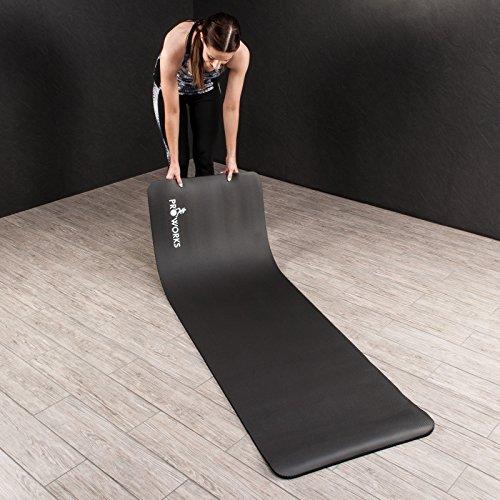 Proworks Große Gepolsterte Yogamatte für Pilates Gymnastik. Mit Trage Gurt Abbildung 3