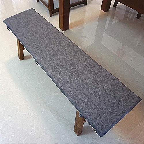 JY&WIN Thicken Rectangular Dining Chair Cushions, Patio Long Seat Cushion, Lace-Up Non-slip Bench Cushion, Indoor Outdoor Sofa Cushion R 30x160cm