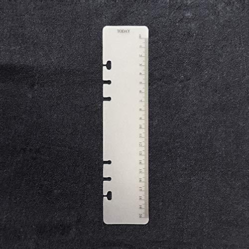 8.5インチプラスチック A5 6穴カバー ラウンドリングビューバインダー ファイルフォルダー ルーズリーフシートプロテクター/ノートブック リフィル/DIYスクラップブック/バインダーカバープロテクター,A5 Today 定規 02 黒,1パッケージ