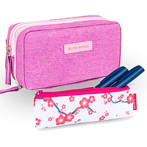Pack 2 estuches para diabéticos, Estuche isotérmico morado Diabetic's, Estuche isotérmico rosa Insulin's, Elite Bags 🔥
