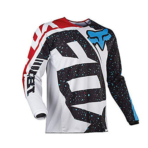 Men Cycling Jersey, Long Sleeve Biking Cycle Tops Quick Dry Breathable Mountain Bike MTB Shirt Racing Bicycle Clothes (Gray,XS)