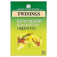 1パックトワイニングパイナップル&グレープフルーツ緑茶20 (x 2) - Twinings Pineapple & Grapefruit Green Tea 20 per pack (Pack of 2) [並行輸入品]