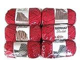 Bernat Blanket Yarn, 5.3oz, 6-Pack (Cranberry)