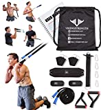 Vikingstrength Total Body System, Exercise Fitness Band for Home, Door Gym with Handles and Running Bungee, Workout for Men/Woman, Garage/Home/Outdoor Gym Equipment