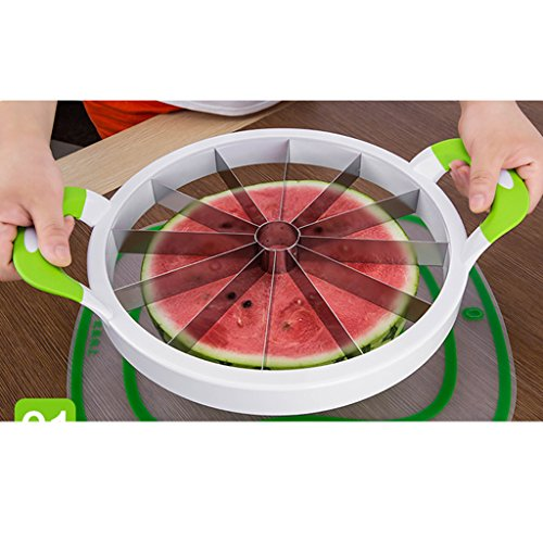Watermelon Slicer 13 inches Large Stainless Steel Fruit Cantaloup Melon Slicer Cutter for Home/Kitchen Must Gadget