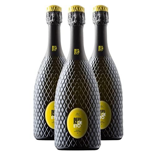 degoosta, Box degustazione Bepin De Eto - 3 x Conegliano Valdobbiadene, Prosecco Superiore DOCG Extra Dry Millesimato, 3 bottiglie da 75 cl