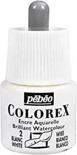 Pebeo Colorex, Watercolor Ink, 45 ml Bottle with Dropper - White