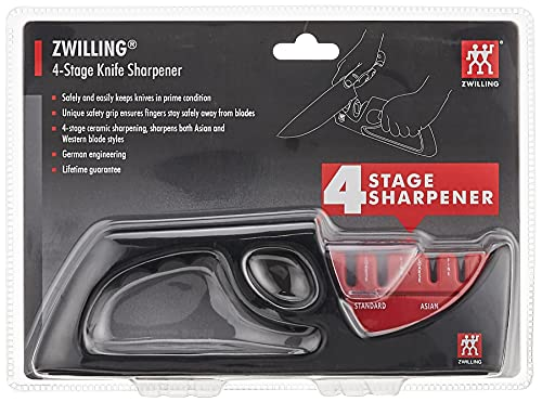 ZWILLING 4-Stage Pull Through Knife Sharpener, Professional Knife...