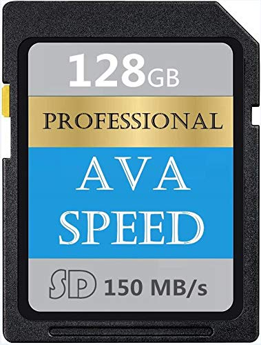Scheda di memoria SDXC Memory Card 128 GB UHS-I scheda SD memoria V60, U3, Max 150 MB/S High Speed per videocamere (128 GB)