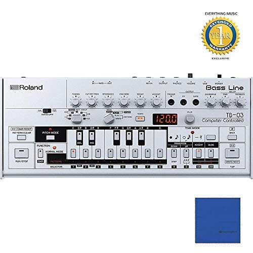 Amazing Deal Roland TB-03 Boutique Bass Line with Microfiber and 1 Year Everything Music Extended Wa...
