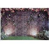 Fotografie Hintergrund, Azurex 3x2m /9.8x6.6ft Blumewand Fotografie Hintergrund Fotohintergrund für Hochzeit Foto Video Studio … (Type 01)