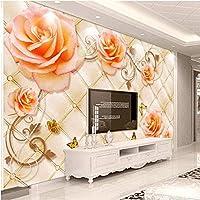 Bosakp カスタム任意のサイズ3D壁壁画壁紙現代3Dステレオレリーフ蓮の花写真壁紙用リビングルームソファテレビの背景 160X100Cm