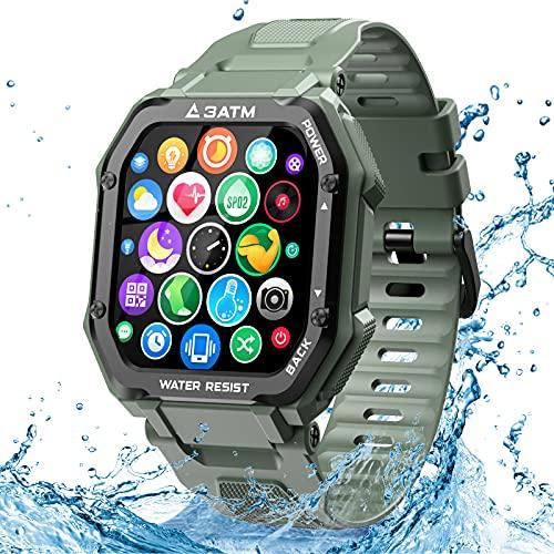 EPILUM Smartwatch Hombre Mujer, Reloj Inteligente Impermeable, con GPS Podómetro, Presión Arterial, Calorías, SpO2, Pulsómetro, 20 Modos Deportivos Reloj Deportivo al Aire Libre,1.69' Pantalla táctil