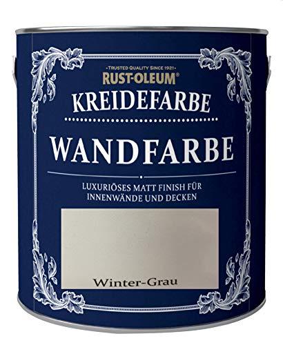 Rust-Oleum 125ml Kreidefarbe Wandfarbe Winter-Grau Matt umweltfreundliche Innenfarbe