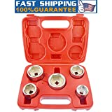 Oil filter removal tool,5pc 3/8 Inch Drive Oil Filter Remover Socket Set Universal Wrench Tool Kit(Ship from US)
