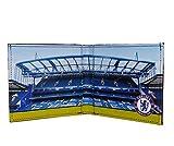 Chelsea FC - Cartera Oficial con el Escudo Grabado - Estadio Nuevo - Negro