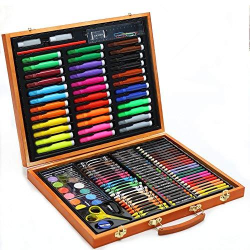 ZYL-YL Arte de los niños en casa Cepillo del Papel fijados Regalo 150 Piezas de Madera Caja de Acuarelas Suministros Conjunto de lápiz de Arte for el Dibujo