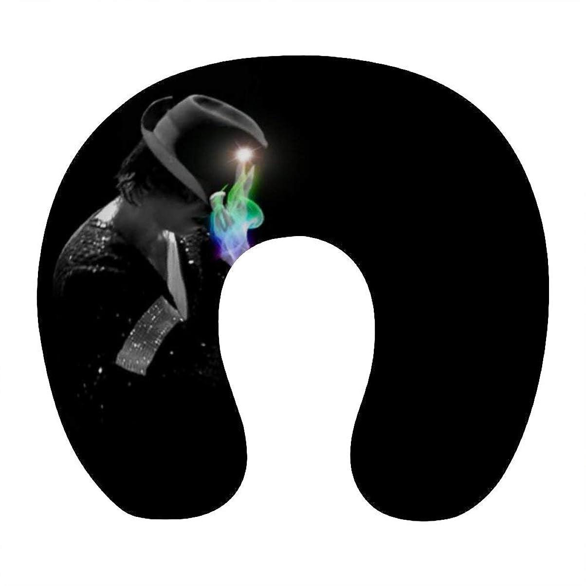 驚くべきユニークな不要Michael Jackson (16)ネックピロー U型まくら 携帯枕 携帯収納便利 ネック枕 オフィス 飛行機 新幹線 出張