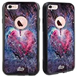 Unnito iPhone 6 Case – Hybrid Commuter Case | Slim Cover with Hard Shell Design and Soft Inner Layer Compatible with iPhone 6S Black Case - Heart Nebula
