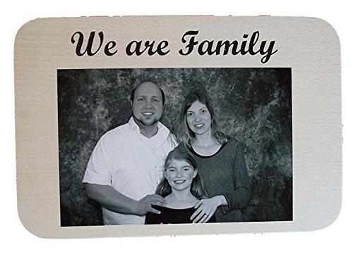 Die Geschenke Manufaktur Vesperbrett Frühstücksbrettchen mit persönlichem Foto aus Holz | Vesperbrett Holz individuelle personalisiert | Brettchen aus Holz mit Namen für Hochzeit oder Geburtstag