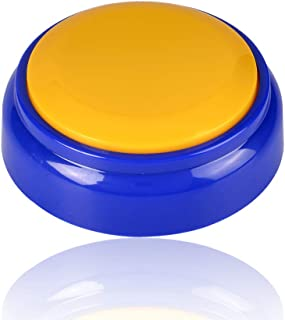 Neutral Sound Button-Voice Recording Button-Recordable Talking Button 30 Second-Answer Buzzers for Funny Novelty Office Desk Gag Gift Custom That was Easy Button(Yellow+Blue)