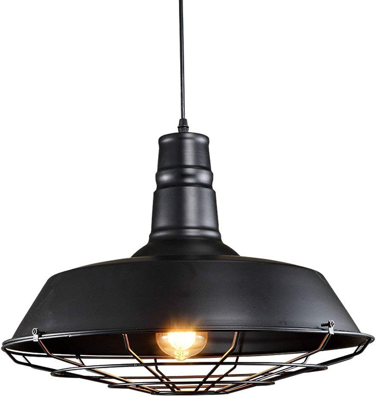 Oudan Kreative Retro Pot Kronleuchter Gangstange Einteiliges Eisen Handwerk Schatten Schwarze LED Deckenleuchte (Gre  26 cm) (Farbe   36cm, Gre   -)