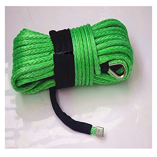 lifebea Eslinga 16mm * 40m sintético Verde Torno de Cable, Cuerda Off...