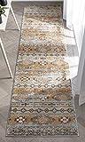 Well Woven Elu Cream Vintage Panel Pattern Runner Rug 3x10 (2'7' x 9'10')