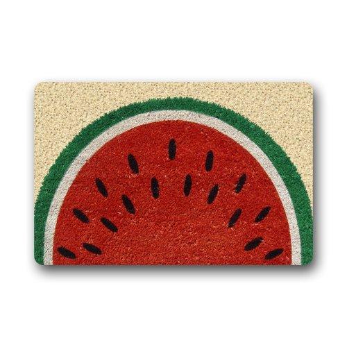 Felpudo decorativo personalizado lavable a máquina alfombra de verano sandía decoración interior y exterior (23.6 x 15.7)