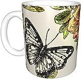 KEROTA Mariposas y flores tazas,tazas,Copa de bebida