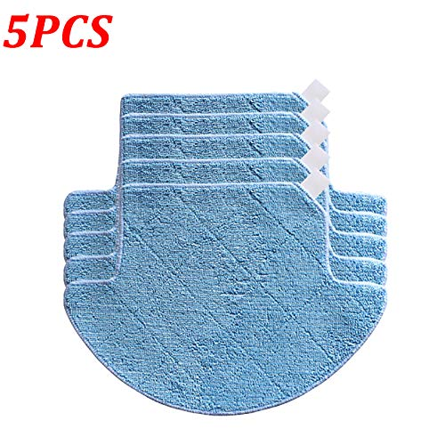 Find Bargain 5Pcs/Lot Mopping Cloth Pad For Chuwi ilife V7S V7S Pro Robot Vacuum Cleaner Mop Replace...