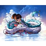 PENGDA Diamond Painting Anime Character for Spirited Away Embroidery 5d DIY Full Round Drill Wall Art Handmade Rhinestone Cross Stitch Picture Mosaic 12X16INCH