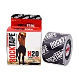 RockTape H20 Kinesiology Tape for Athletes, Black Logo