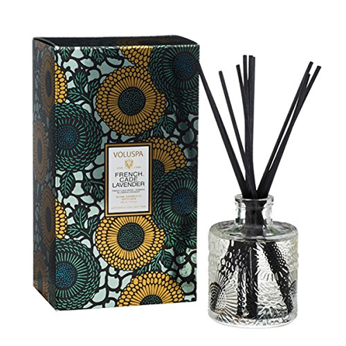 Voluspa French Cade Lavender Home Ambience Reed Diffuser, 3.4 Fluid Ounces